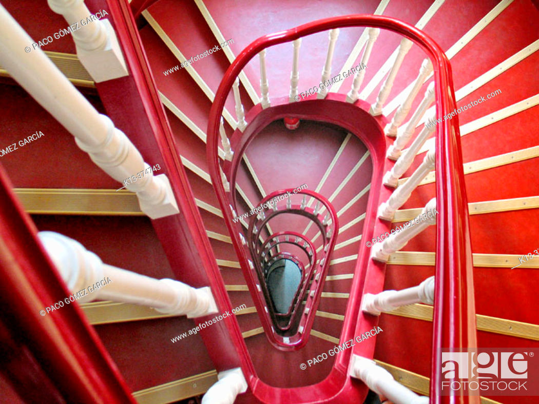 Stock Photo: Spiral stairs. Brussels. Belgium.