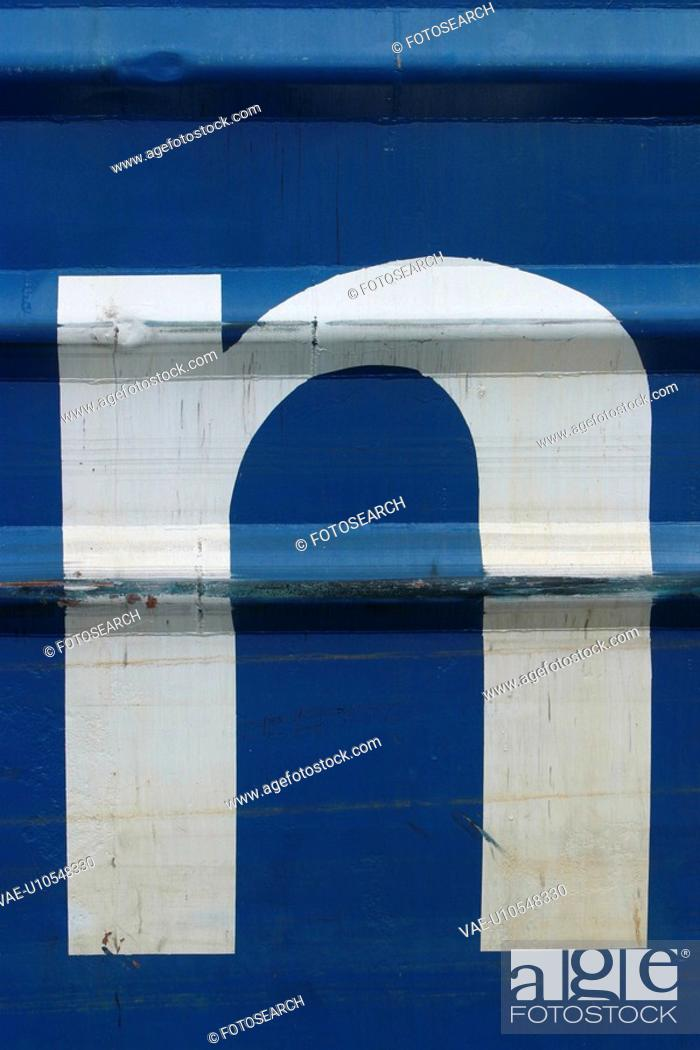 Stock Photo: text, logo, symbolic, print, container.