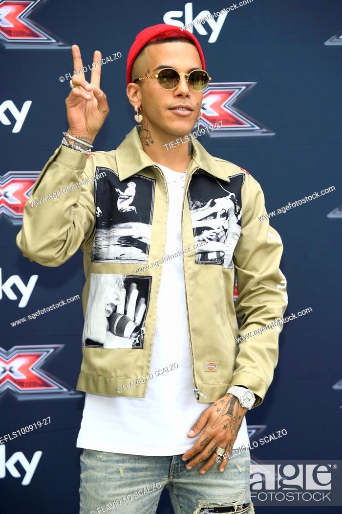 Stock Photo: Rapper Sfera Ebbasta during the photocall of X Factor 2019, Milan, ITALY-10-09-2019.