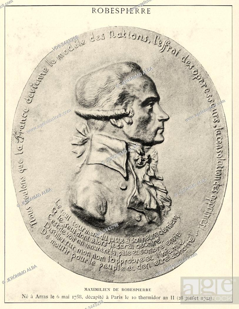 Photo de stock: Portrait of Augustin Robespierre (Arras, 1763-Paris, 1794), French politician, member of the National Convention. French Revolution 18th century.