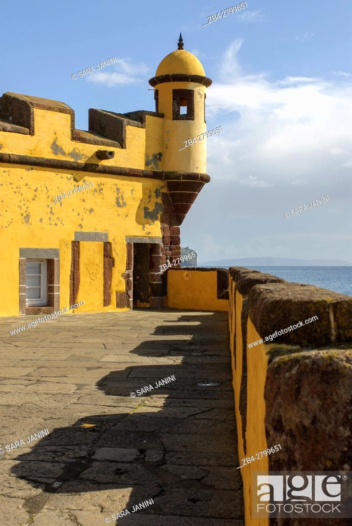 Stock Photo: São Tiago Fortress, Funchal, Madeira, Portugal.