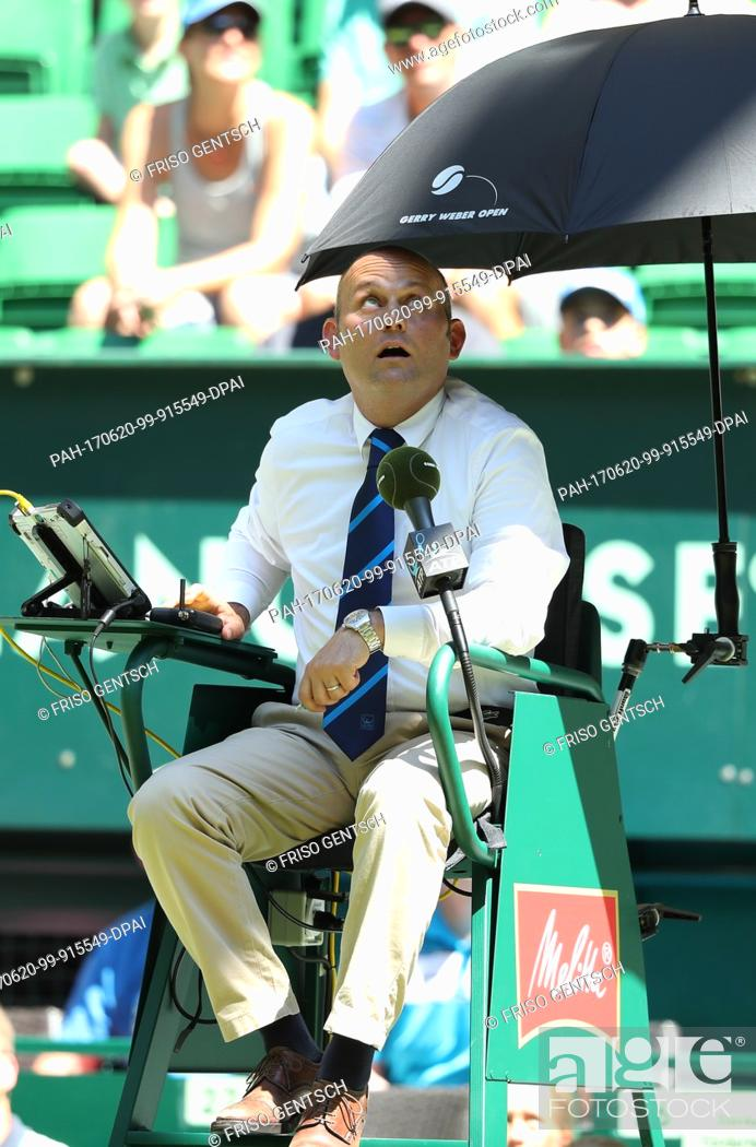 Stock Photo: Referee Gianluca Moscarella from Italy, photographed during the match between Kohlschreiber from Germany and Sousa from Portugal at the ATP Tennis Tournament.