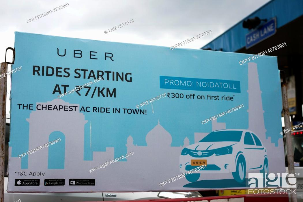 Advertising billboard for the transportation company Uber on