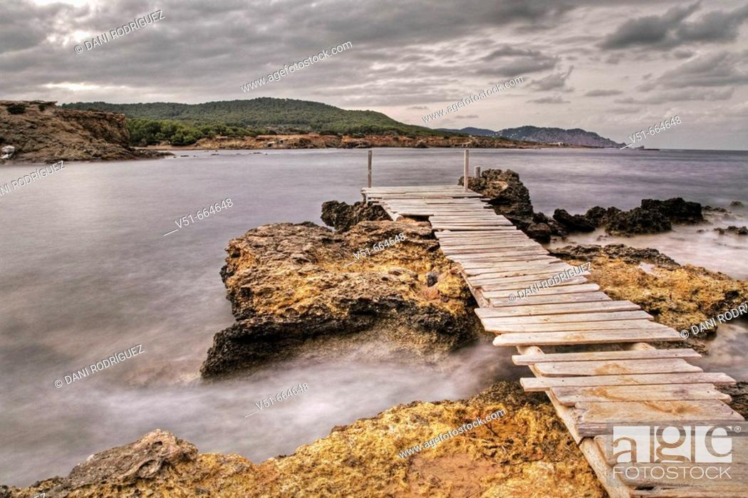 Stock Photo: Seascape. Sant Carles, Ibiza. Spain.