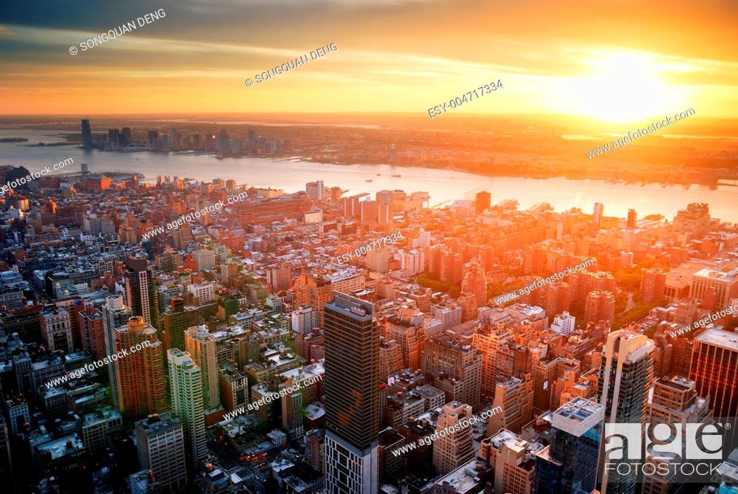 Stock Photo: New York City sunset.