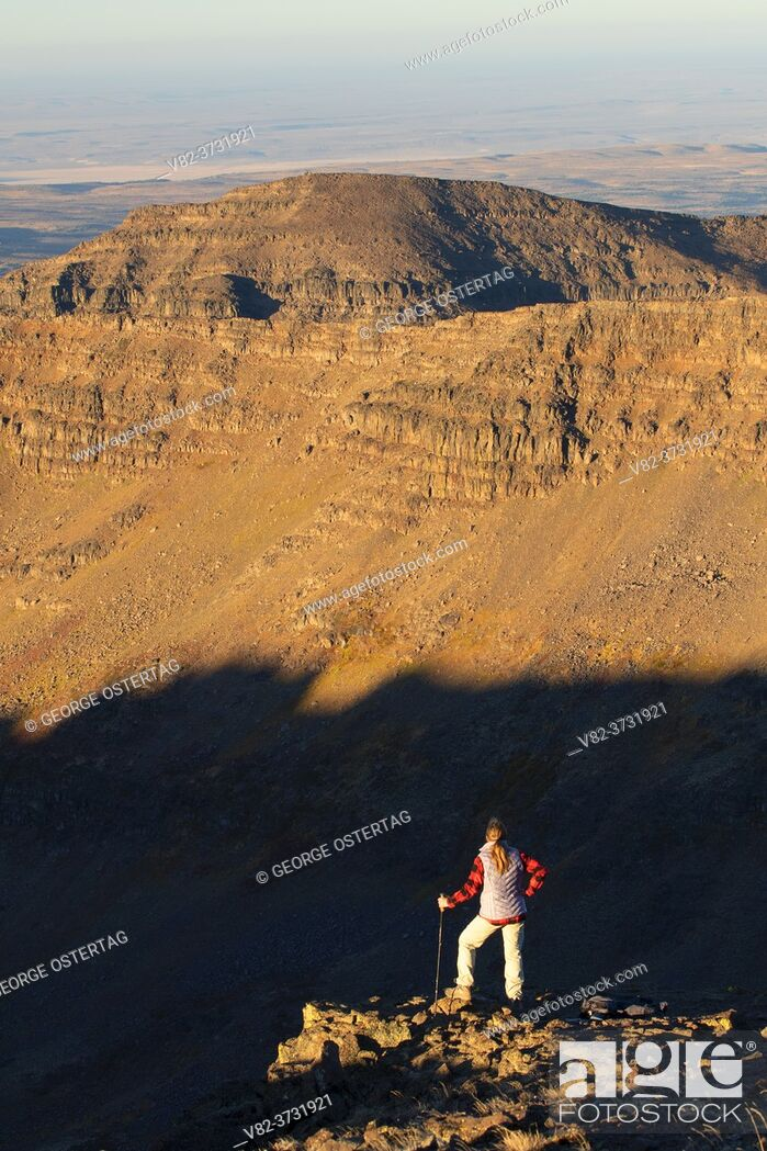 Stock Photo: Wildhorse Canyon viewpoint along Steens Summit Trail, Steens Mountain Cooperative Management and Protection Area, Steens Mountain Backcountry Byway, Oregon.