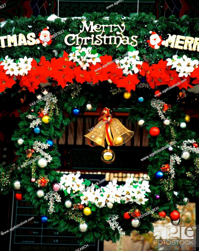Stock Photo: winter, christmas, seasons, tree, bell, film.