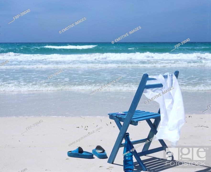 Stock Photo: Chair on the beach.