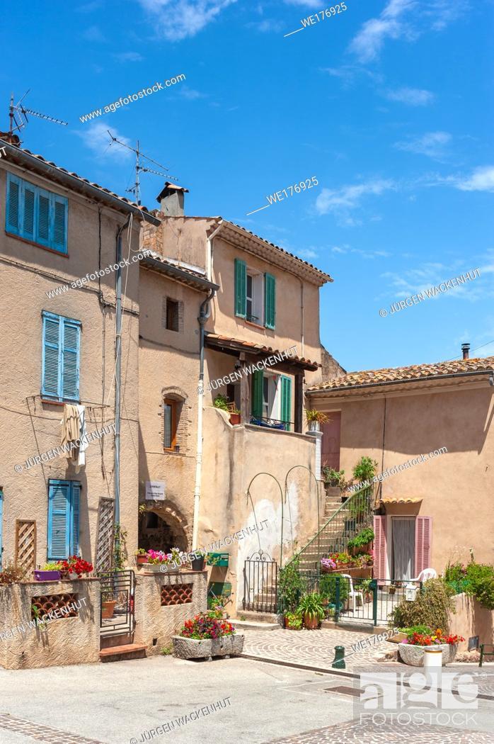 Stock Photo: Historic old town, Roquebrune-sur-Argens, Var, Provence-Alpes-Cote d`Azur, France, Europe.