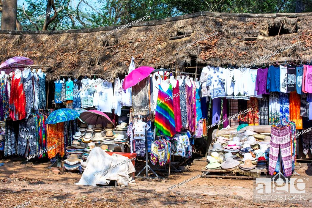 Stock Photo: Angkor, parking lot with stall.