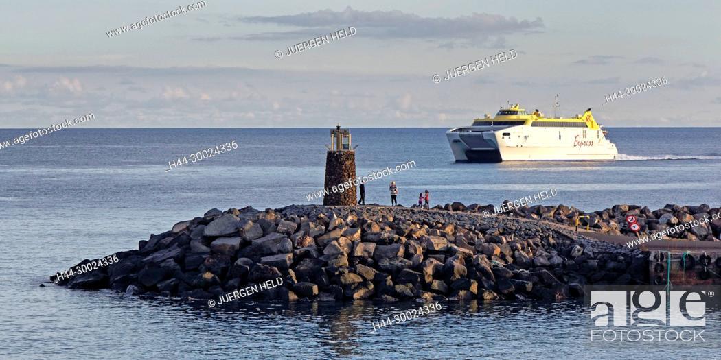 Stock Photo: Ferry from Playa Blanca to Fuertoventura, Light Lanzarote, Canary Islands, Spain.