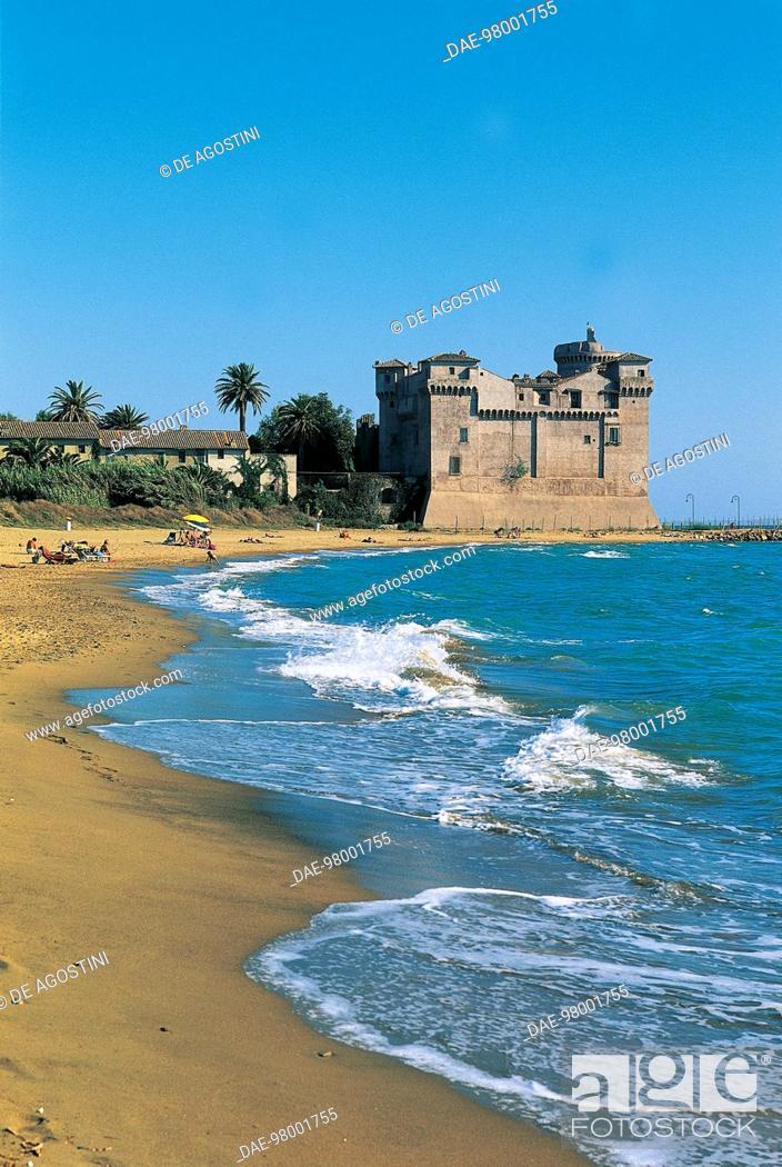 Castle Of Santa Severa 9th Century Santa Marinella Beach Rome