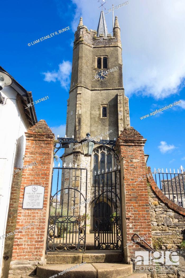 Stock Photo: Chapel of St Lawrence, Ashburton Devon UK. October 2019.