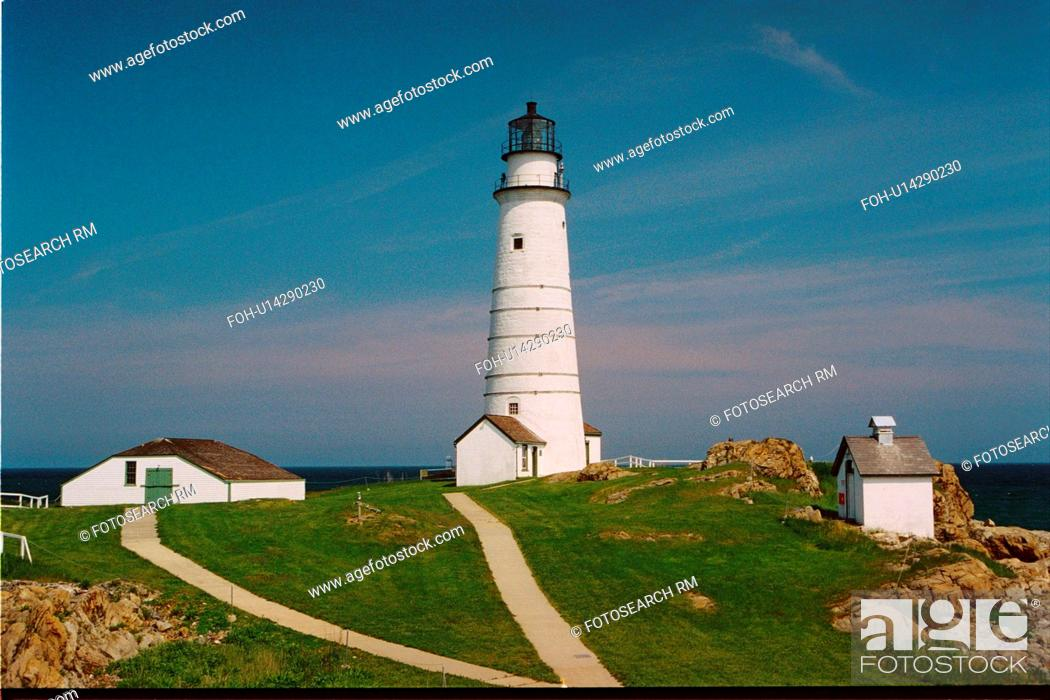 Stock Photo: lighthouse located at BostonLight, Massachusetts, United States.