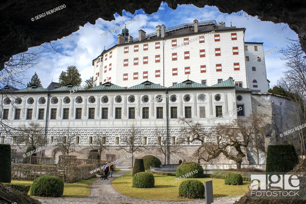 Stock Photo: View of the Renaissance Ambras Castle, near Innsbruck, Austria.