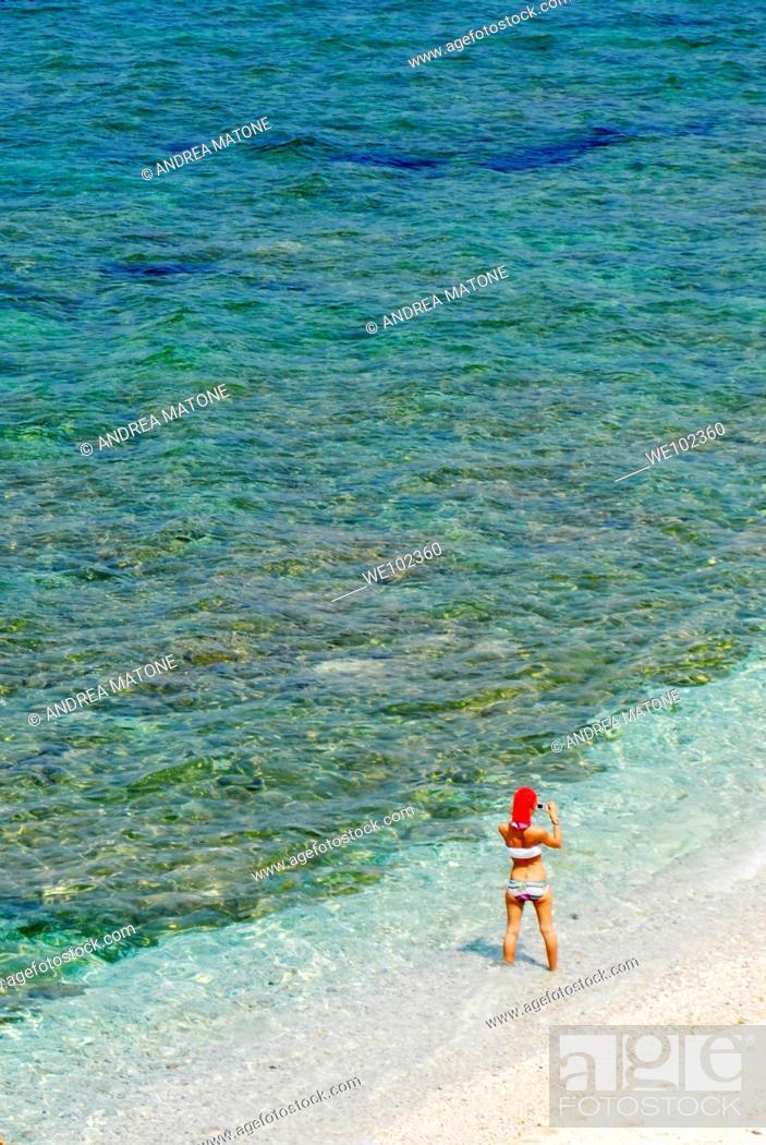 Stock Photo: Beach Capo Bianco locality portoferraio Isola d'Elba Tuscany Italy.