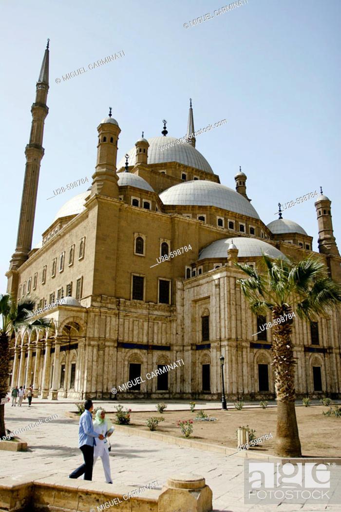 Stock Photo: Mosque of Muhammad Ali, Cairo, Egypt.