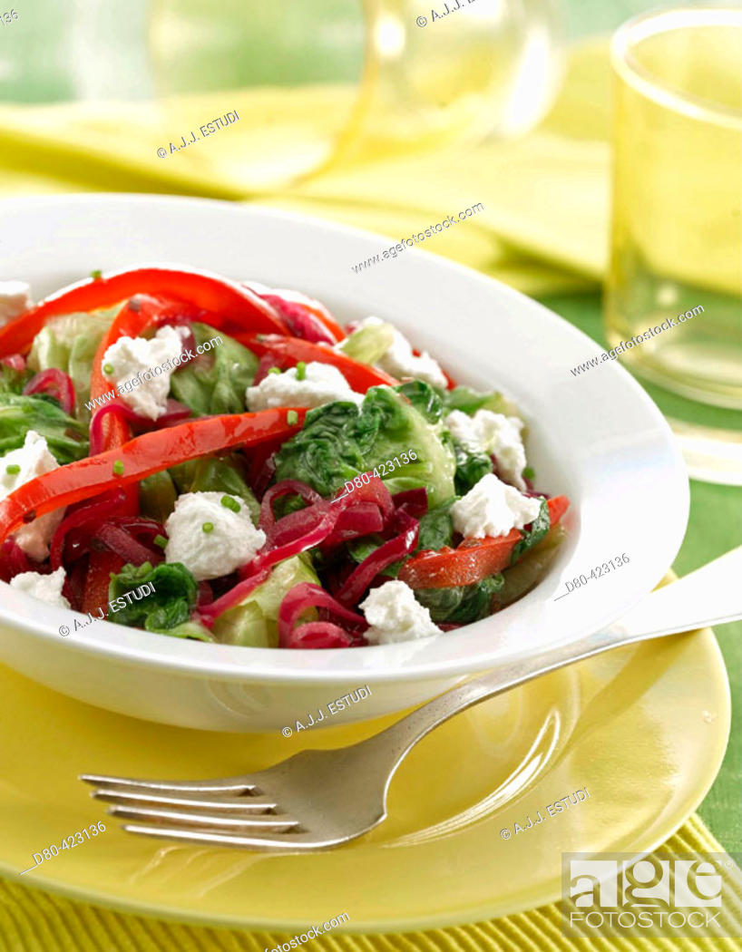 Stock Photo: Lettuce and pepper stew.