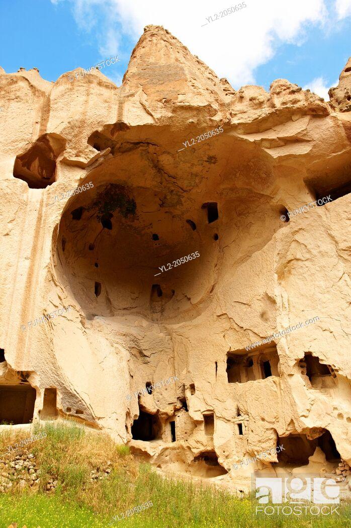 Stock Photo: Early Christian monasteries of Zelve, Cappadocia Turkey.