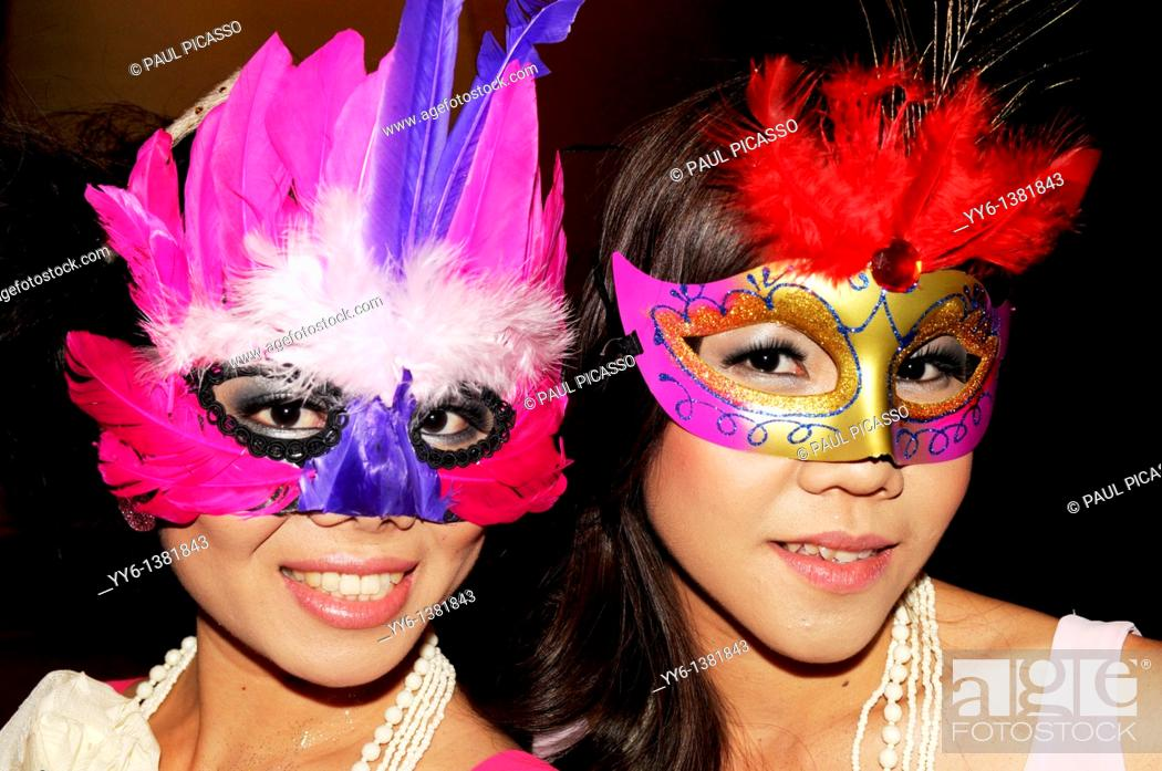Stock Photo: Masquerade , bangkok mask party , the crazy ball of bangkok, thailand.