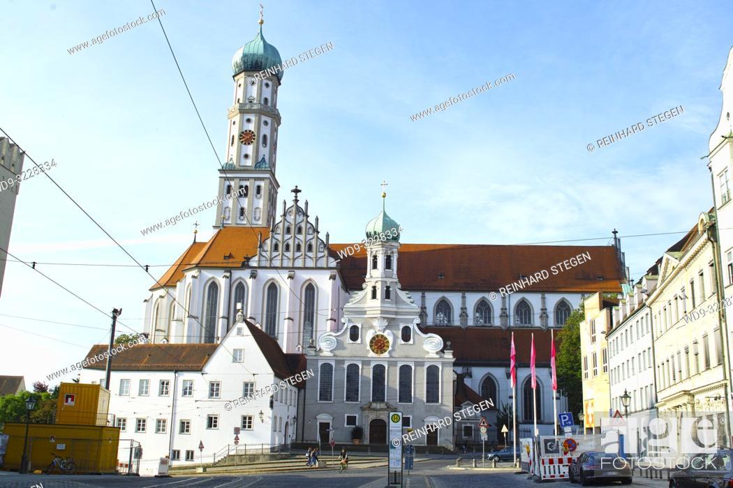 Stock Photo: Basilica of SS. Ulrich and Afra, Roman catholic church, Augsburg, Bavaria, Germany.