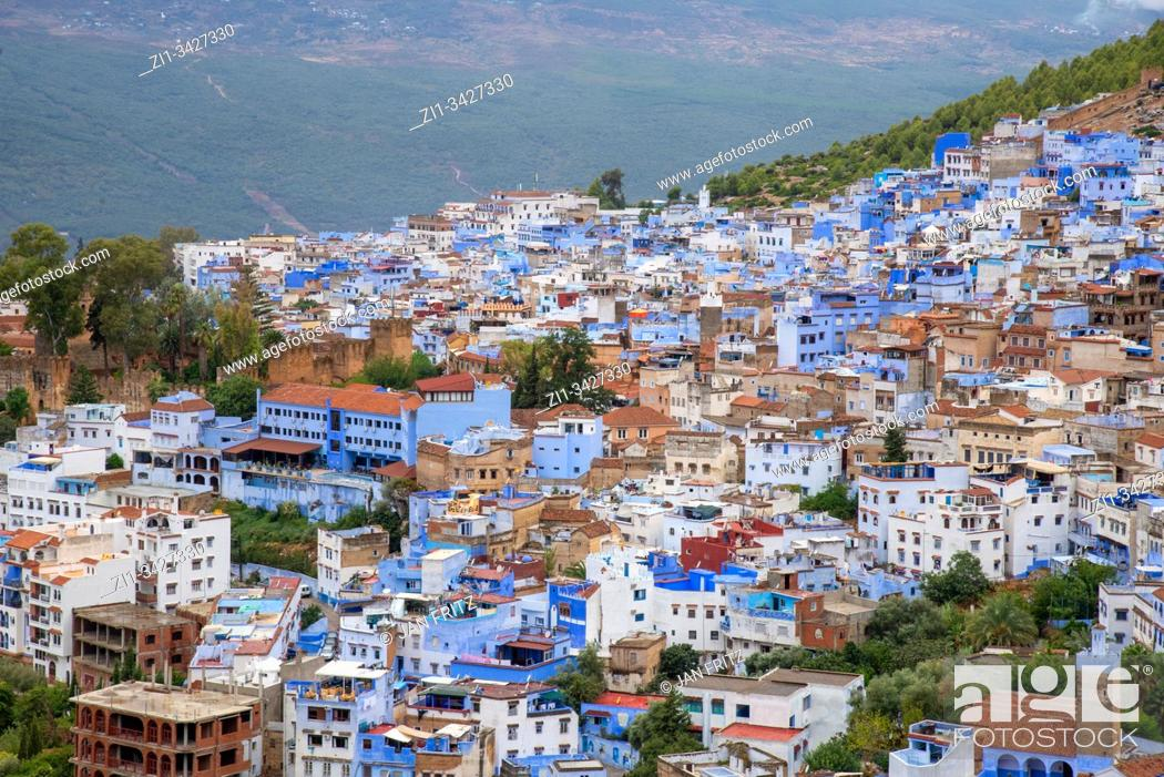 Stock Photo: view at Chefchaouen in Maroc.