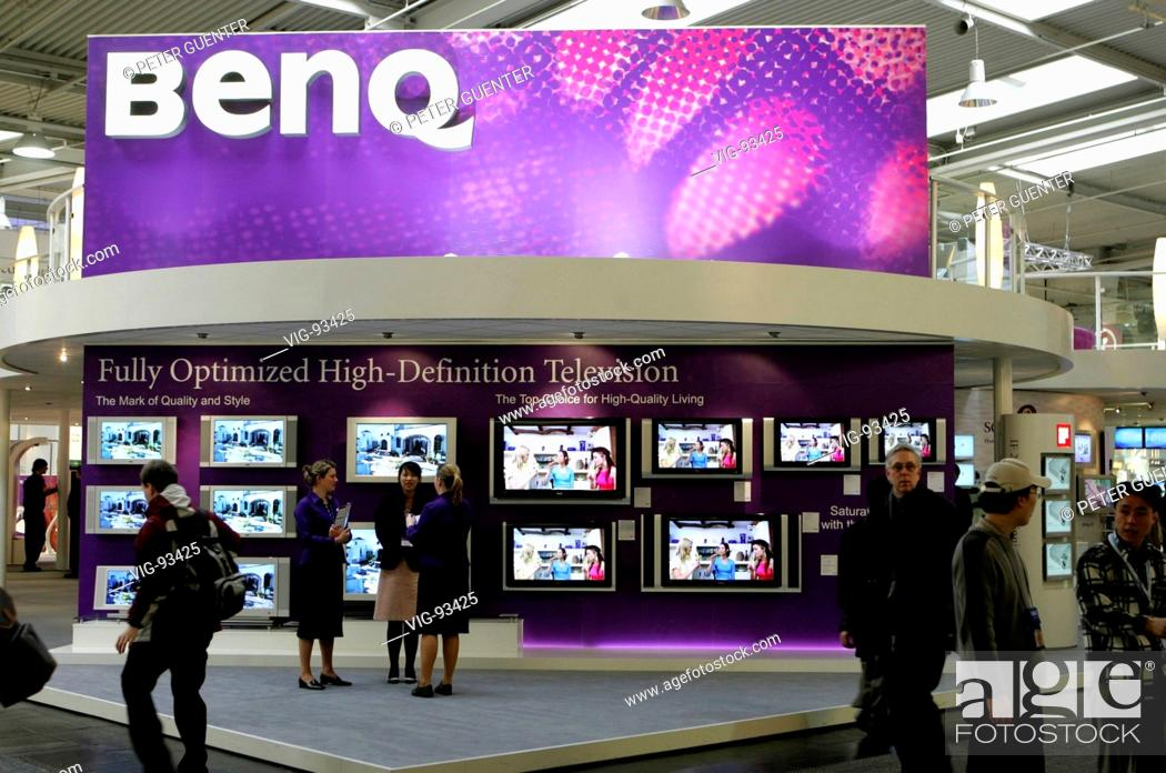 Exhibition Stand Definition : Benq exhibition stand at the computer fair cebit in hanover stock
