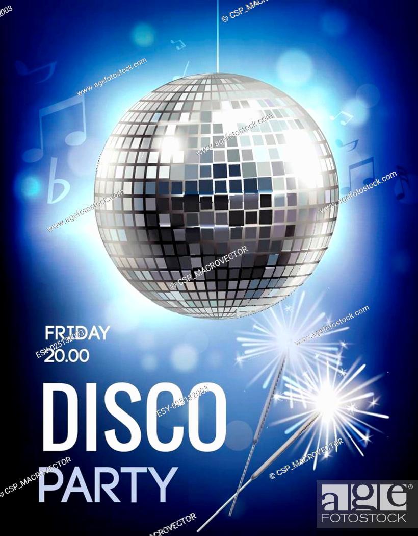 Stock Vector: Disco Party Poster.