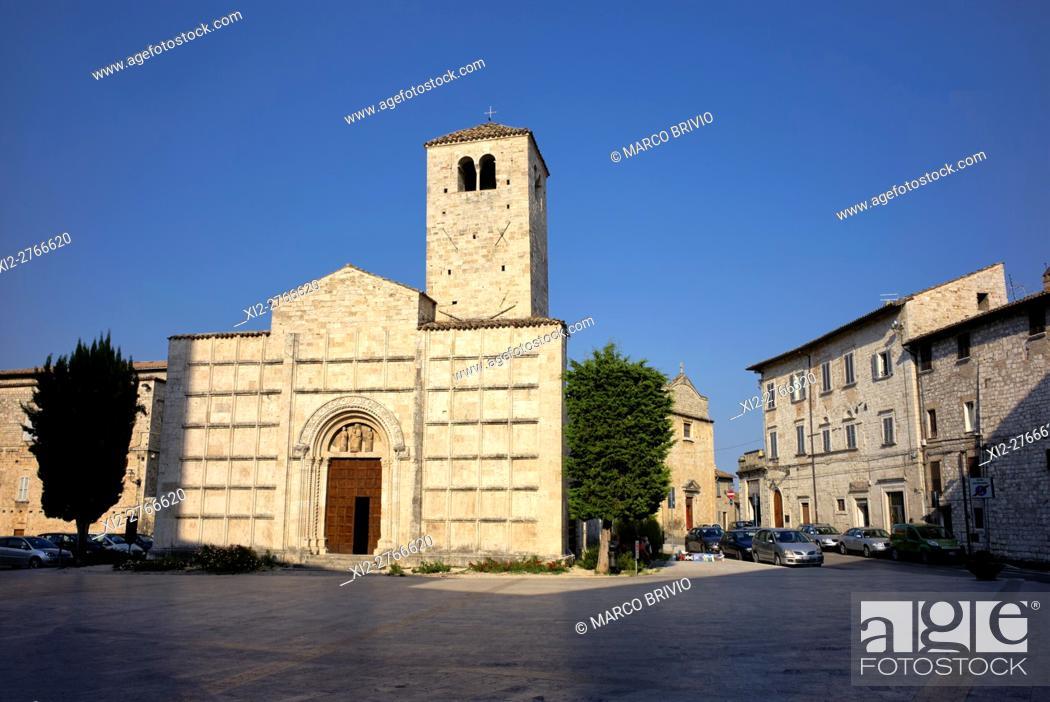 Stock Photo: San Vincenzo e Anastasio church. Ascoli Piceno, Marche, Italy.