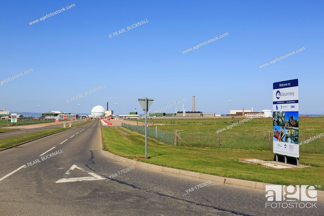 Stock Photo: Thurso, Caithness, Highland, North Scotland, UK, Britain, Europe  Dounreay nuclear power station atomic energy and research establishment now being.