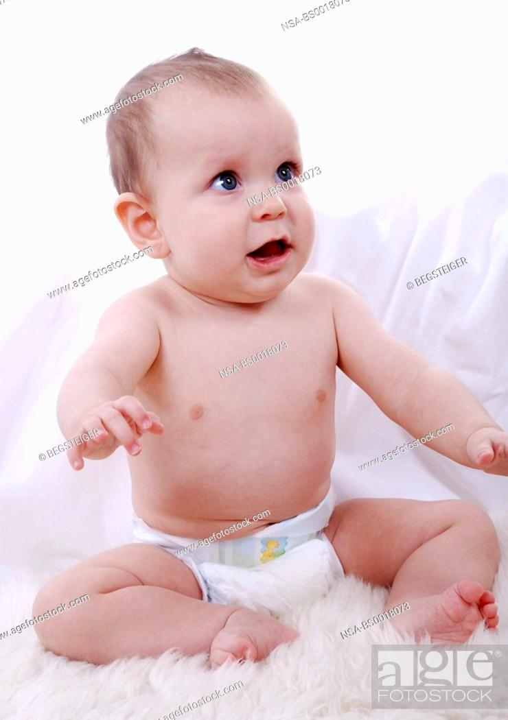 Stock Photo: baby child in diapers.