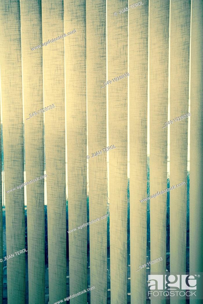 Stock Photo: Close-up of yellow blinds.