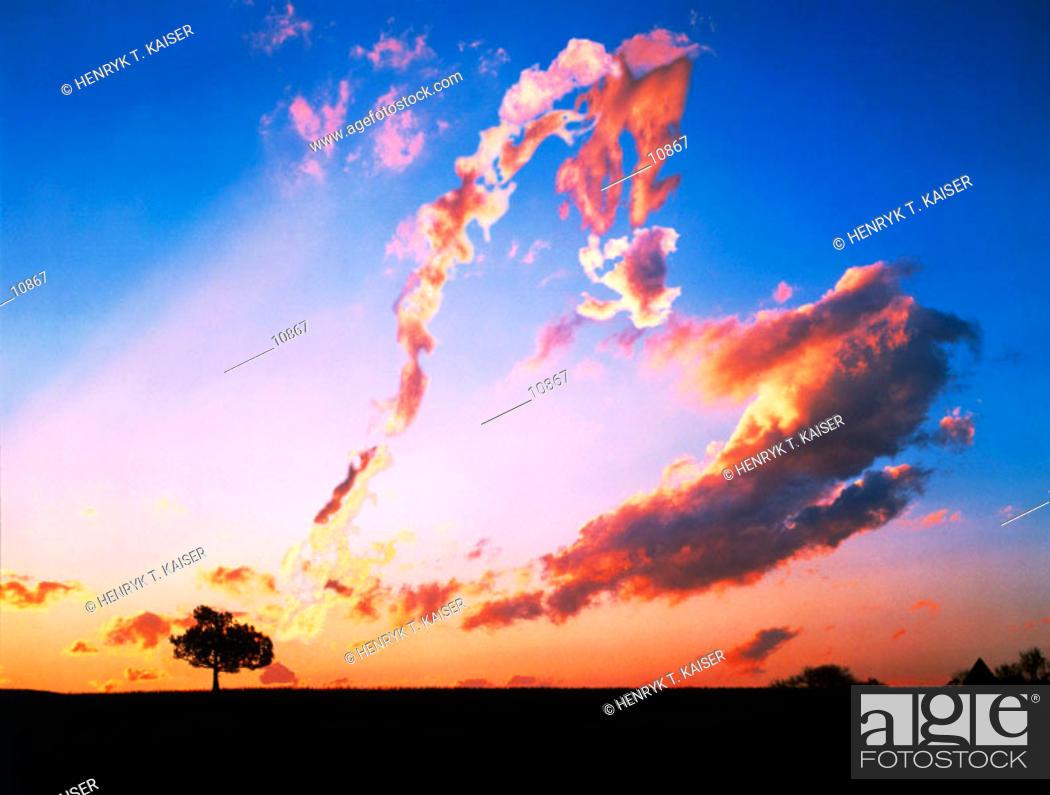 Stock Photo: Heart shaped cloud.