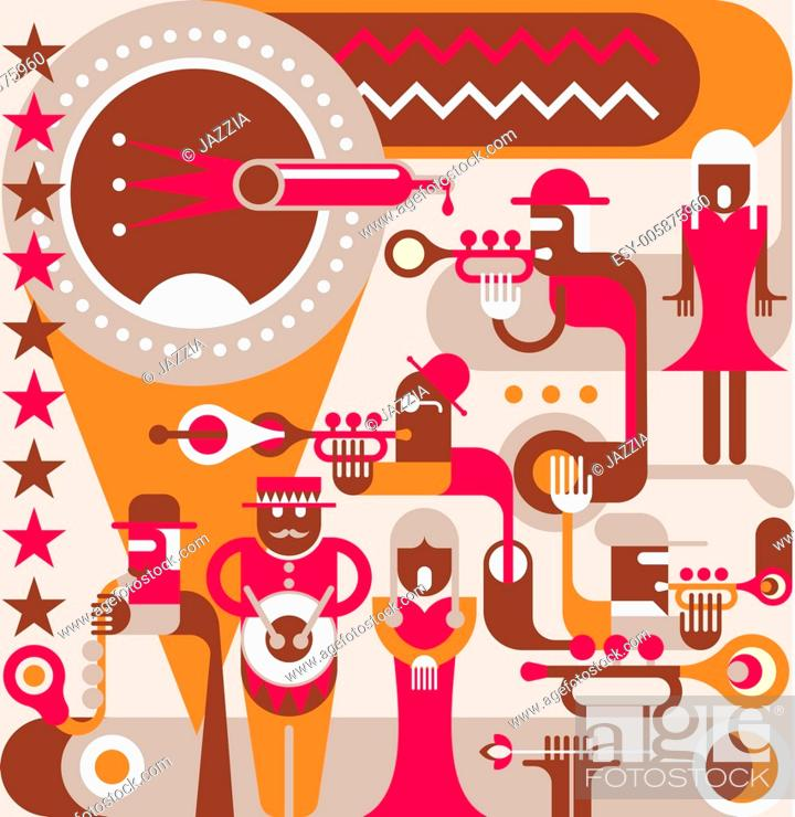 Stock Vector: The Jazz Band.
