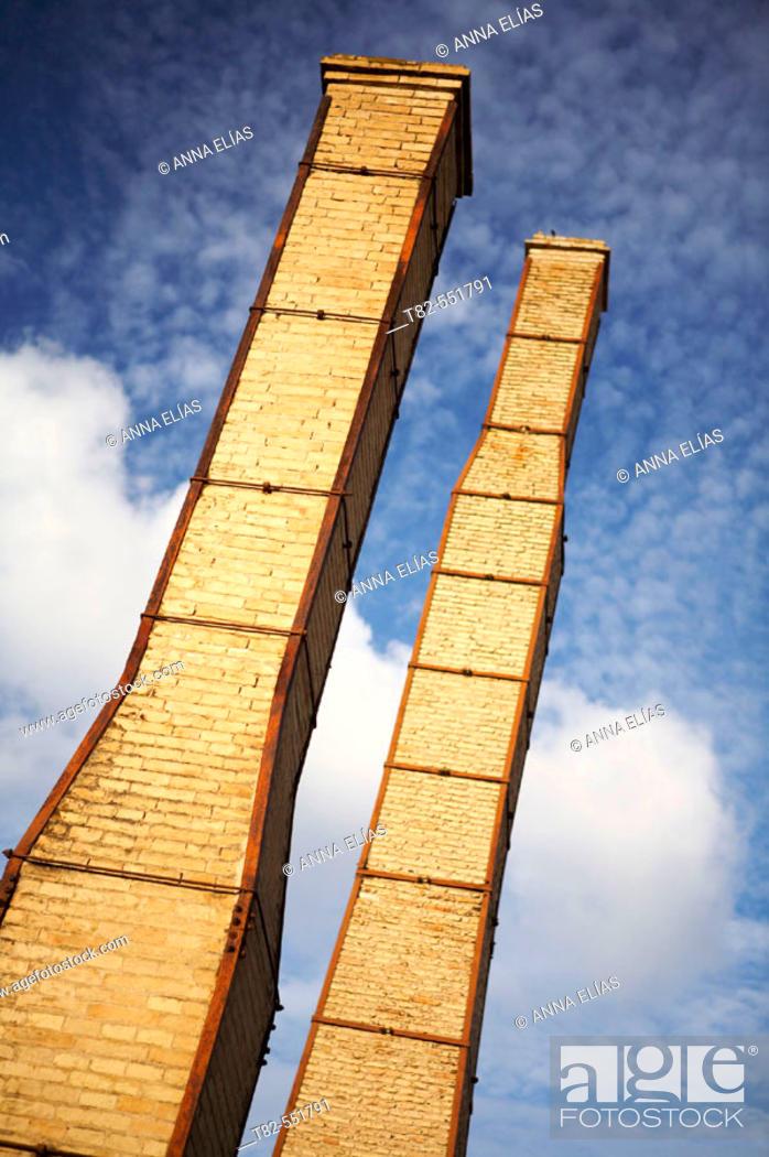 Stock Photo: Chimneys. Monasterio de la Cartuja charterhouse. Sevilla. Spain.