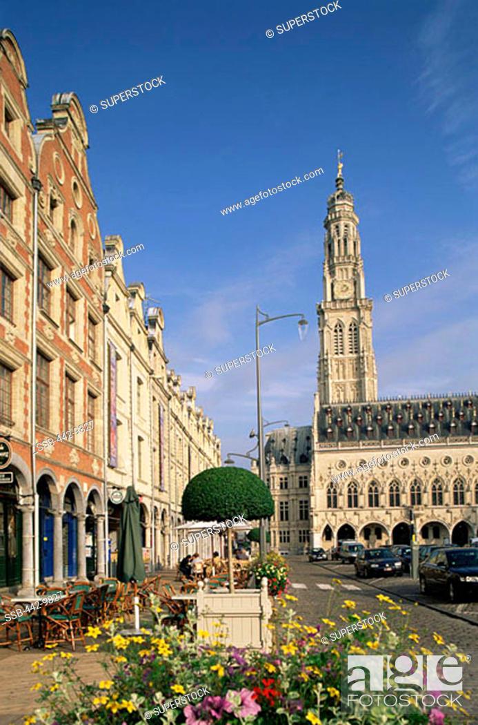 Stock Photo: Place des Heros Arras France.