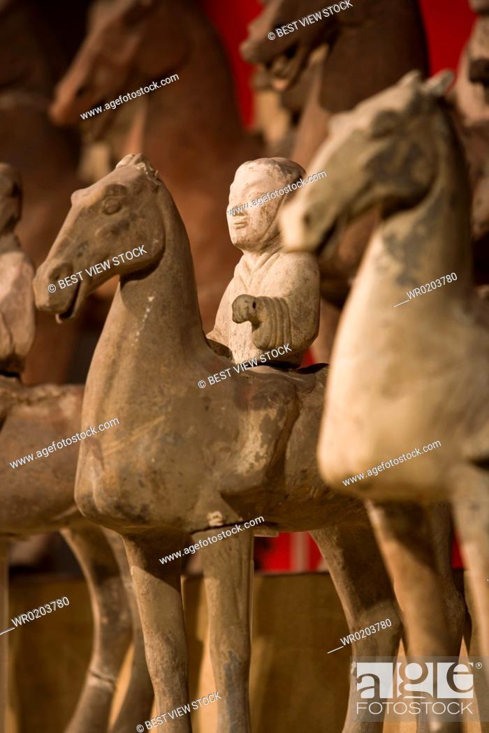 Stock Photo: the Emperor Qins Terra-cotta Warriors,Terra-cotta,Terracotta,Terra cotta,Xian.
