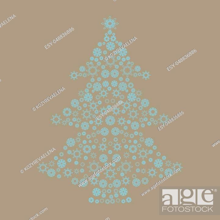 Stock Vector: Christmas card background. New year vector illustration.