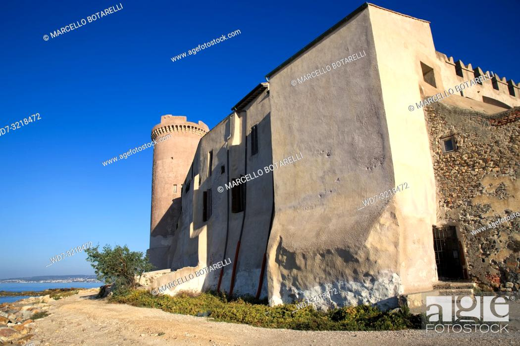 Stock Photo: Castle of Santa Severa, near Rome, Italy.