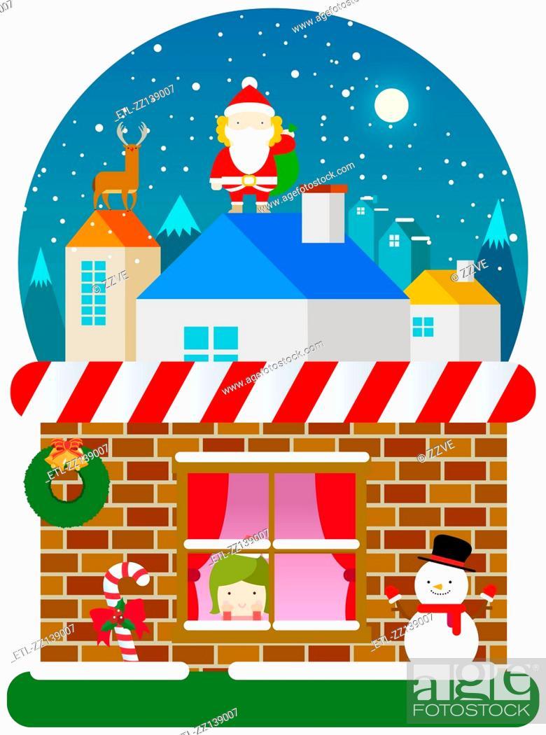Stock Photo: Christmas landscape.