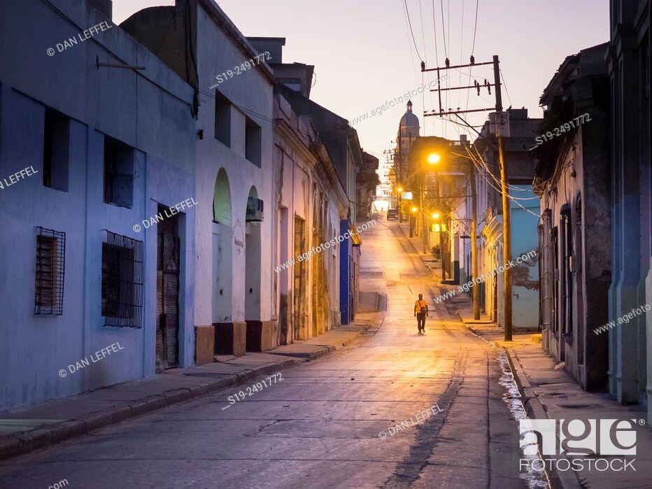 Stock Photo: Street scene. Santiago de Cuba.