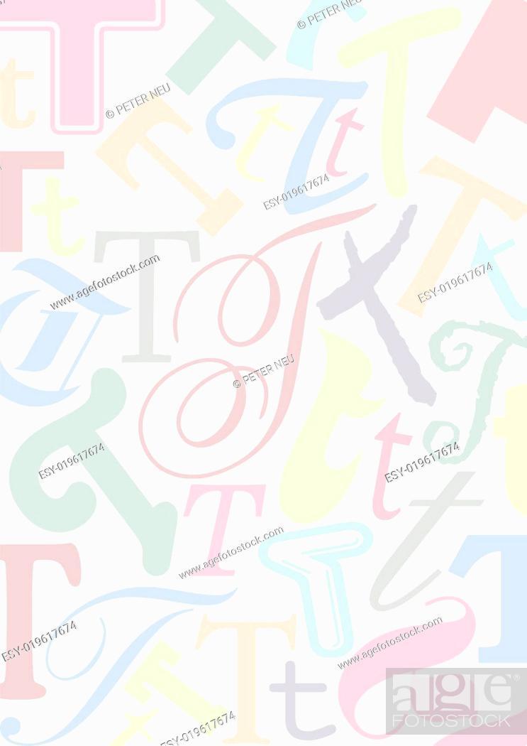 Stock Photo: Hintergrund mit Buchstaben T.