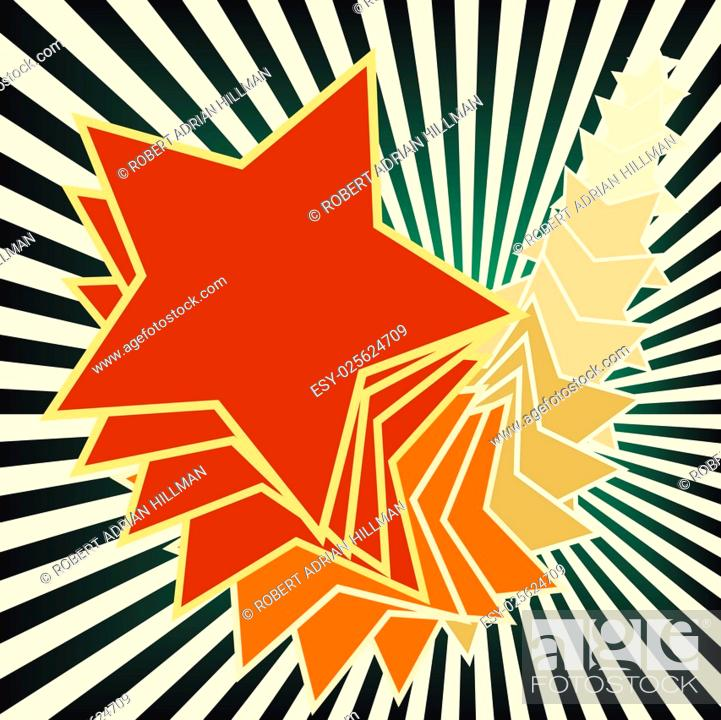 Stock Vector: Editable vector illustration of stars and stripes.