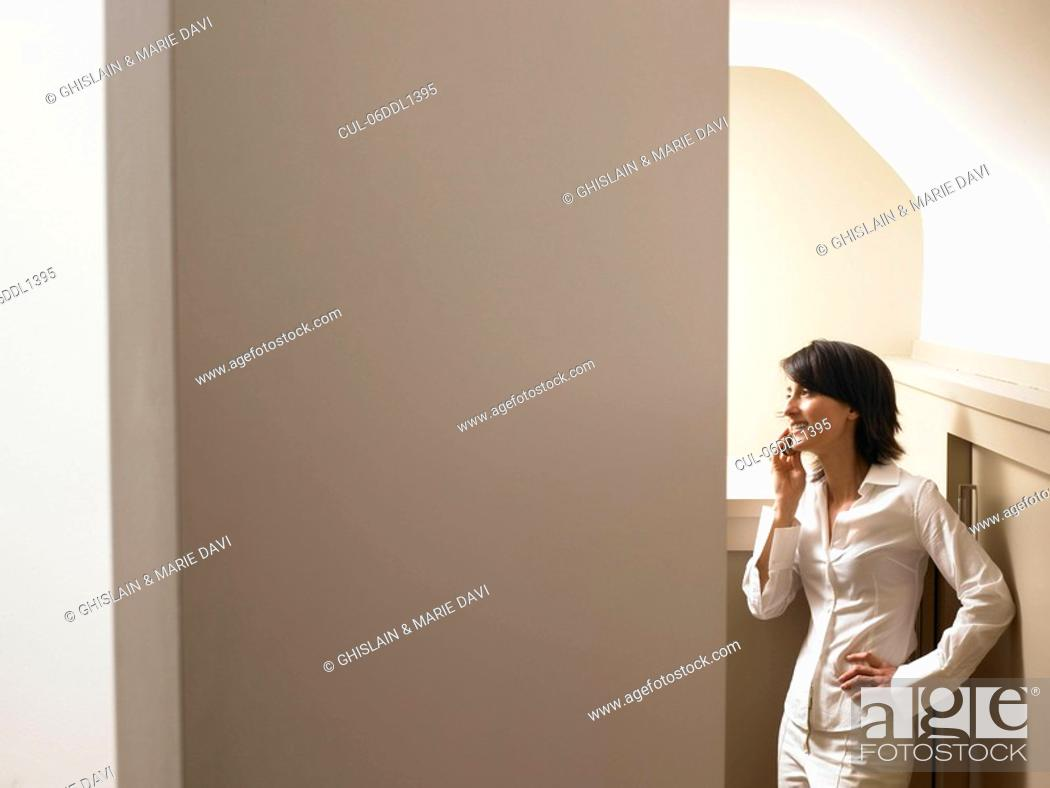 Stock Photo: Woman on the phone.