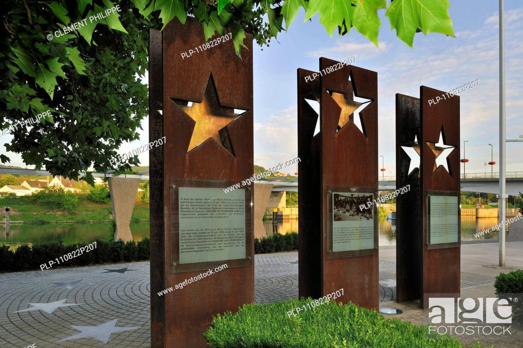 Monument Of The Schengen Agreement Of 1985 Along The River Moselle