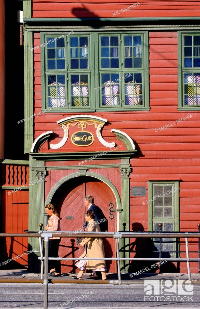 Stock Photo: Norway, Bergen, hanseatic quarter.