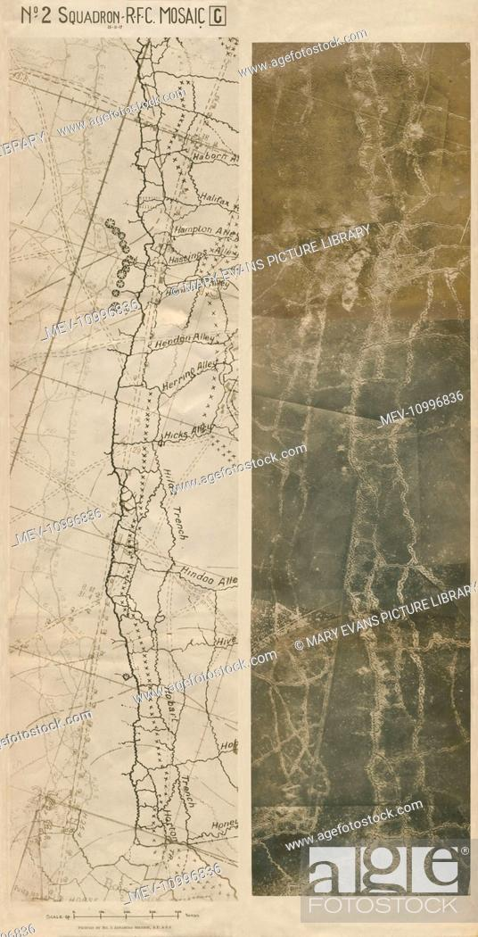 WW1 - Aerial Reconnaissance Photo of Somme Trenches and ...