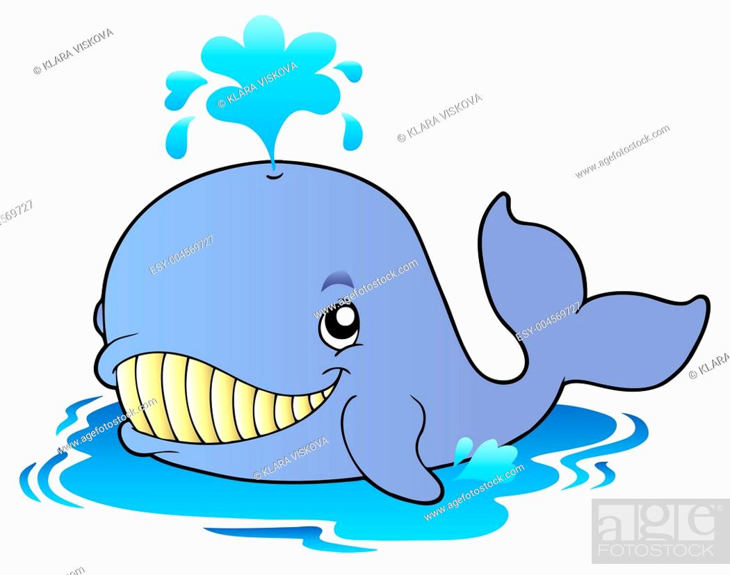 Stock Photo: Big cartoon whale.