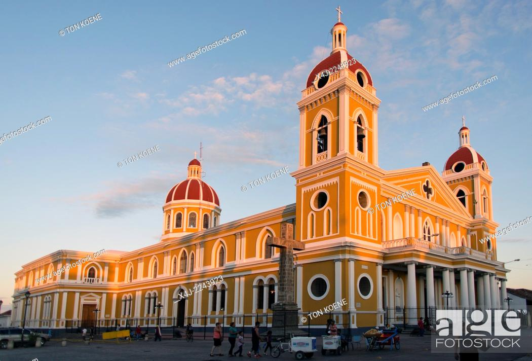 Stock Photo: Granada's cathedral, nicaragua.