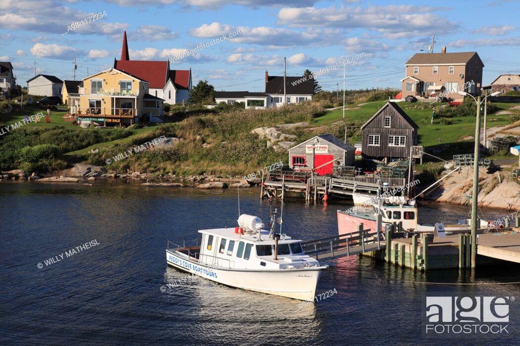 Imagen: Port of historic fishing port Peggys Cove, Nova Scotia, Canada.